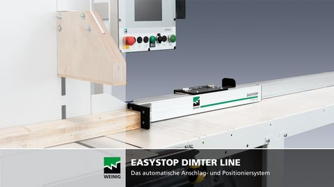Easystop Positioniersystem mit Opticut C 50 Untertischkappsäge Video