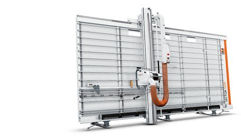 Vertical wall saw from Holzher - precise working on small space